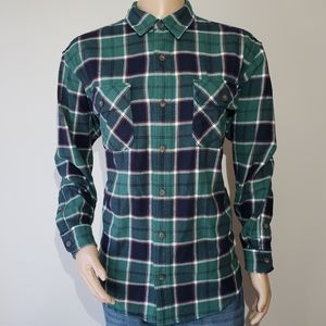 Duluth Trading Co Flannel Shirt Men's Large Plaid